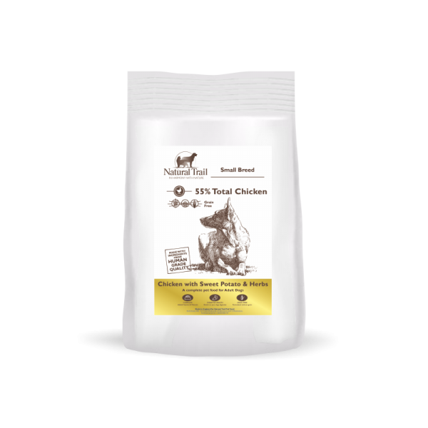 NATURAL TRAIL Dog GF Small Chicken With Sweet Potato & Herbs 2kg