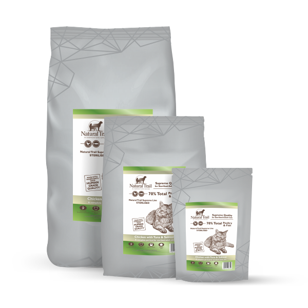 NATURAL TRAIL Cat SUPREME Sterilised Poultry & Fish 70%